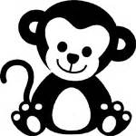 adorable baby monkey sticker car stickers