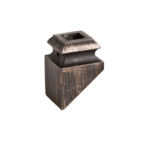 house of forgings house of forgings square hole 1 3125 in aluminum angled shoe baluster shoe oil rubbed