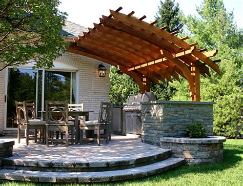Outdoor Kitchen Arbor Modern Pergola Home Design Scrappy