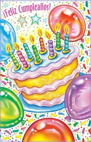 printable birthday cards spanish 8 best images about spanish happy birthday on pinterest