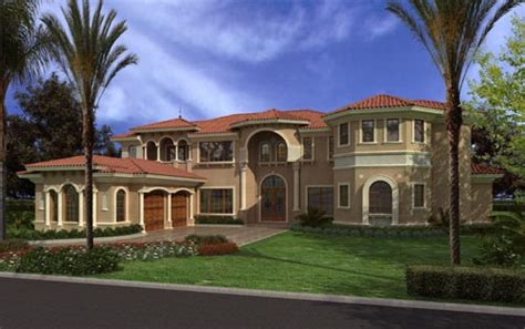 two story florida house plans florida style house plans 7502 square foot home 2 story 7 bedroom and 7 bath 2