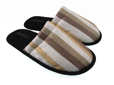 Men S House Slippers Stripe Design 1 Mps0308 163 8 99 Monster Slippers