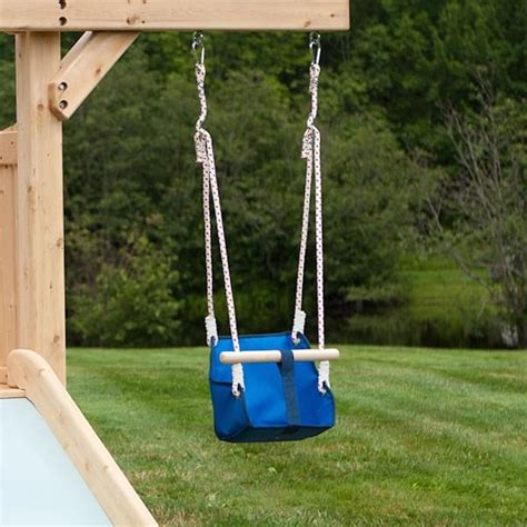 baby swings for swing sets frolic 703 wooden swing set and outdoor playset