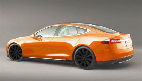 Orange Tesla Model S Tesla Model S New Colors Coming Soon