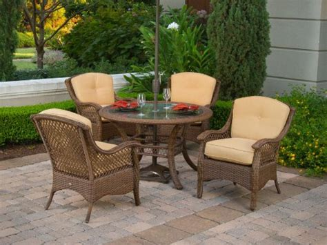 Buy Patio Set 4pc Veranda Resin Wicker Outdoor Dining Set Patio