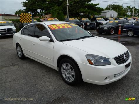 nissan white car altima 2005 nissan altima 2 5 s in satin white pearl 244651