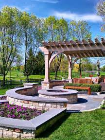 Pergola Fire Pit by Best Outdoor Fire Pit Seating Ideas Designrulz