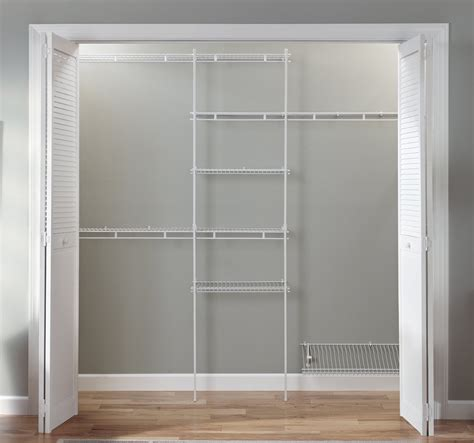 Closetmaid Closet Shelving closet organizer kit white color 5 to 8 closetmaid