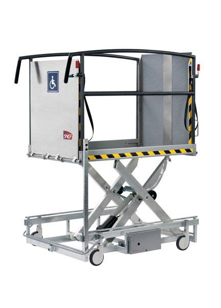 portable wheelchair access scissor lift van ground
