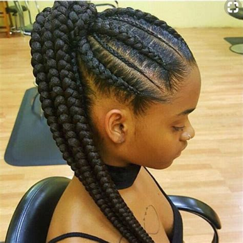 Attractive 8 Feed in Braids Ponytail for Women   New