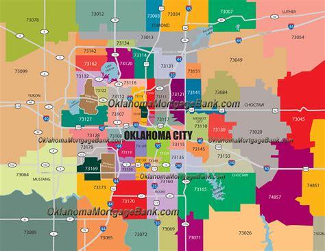 oklahoma city zip code map zip code map oklahoma city