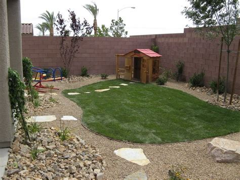 Kid Friendly Backyard Landscaping kid friendly backyard tropical las vegas by
