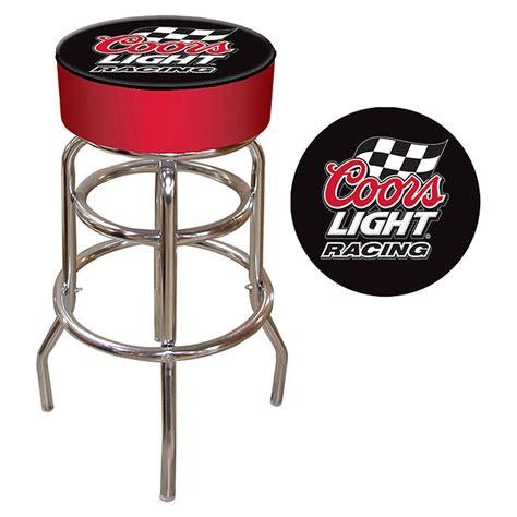 coors light bar stool trademark 174 coors light 174 racing logo padded bar stool