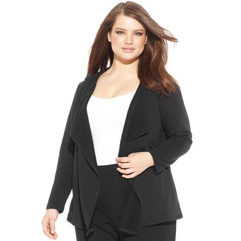 plus size draped cardigan inc international concepts plus size longsleeve draped