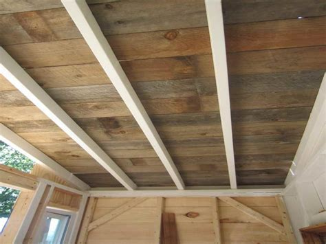 Ceiling Planks Ideas Wood Ceiling Planks For Rustic Home Design Plank