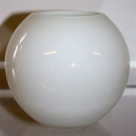 globe bowl white glass vase ten and a half thousand things