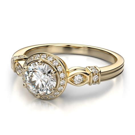yellow gold wedding ring with vintage style ipunya