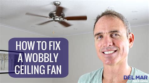 How To Repair A Ceiling Fan by How To Fix A Wobbly Ceiling Fan