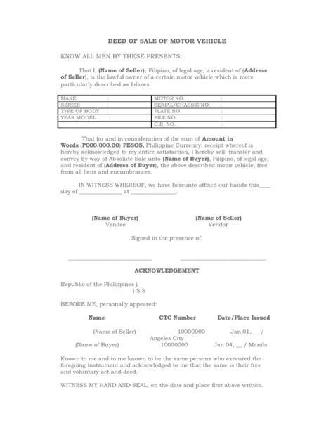 download deed of sale google docs
