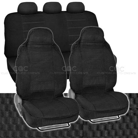padded seat covers car seat covers black auto accessories padded scottsdale cloth