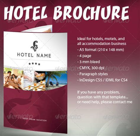 15 Hotel Brochure Templates Free Premium Templates Hotel Flyer Templates Free