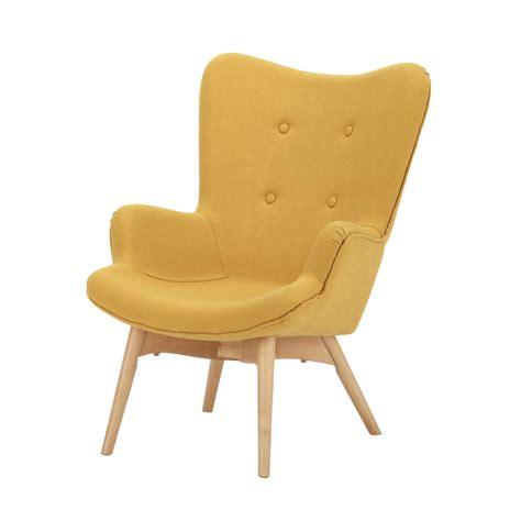 fauteuil chambre enfant fauteuil scandinave enfant en tissu jaune iceberg