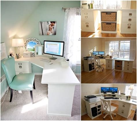 Diy Home Office Desk 10 Diy Home Office Desks For Your Inspiration Home Decoratings And Diy
