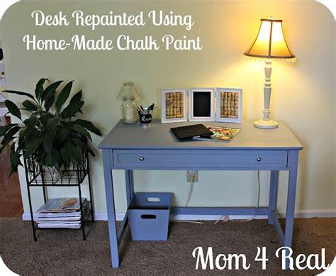 diy chalk paint satin desk re painted w home made chalk paint chalk paint