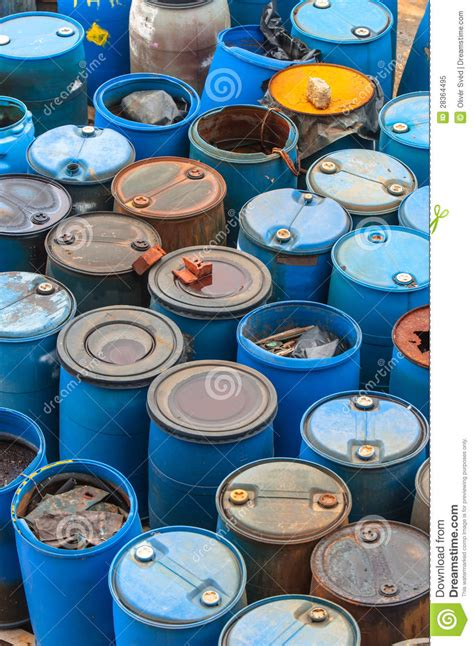 Dump Chemistry Designed By Bonaque by Chemical Waste Dump With A Lot Of Barrels Royalty Free