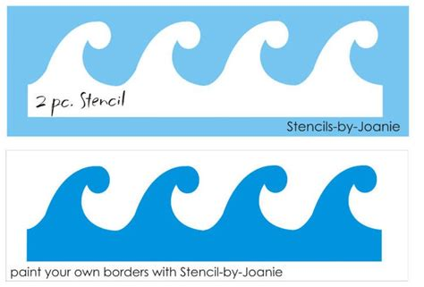 template of waves waves stencil for the home posts and templates