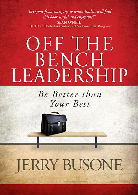 off the bench off the bench leadership broadstreet publishing