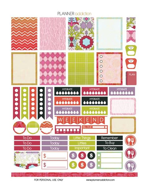 Printable Eclp Stickers | 38 best images about free eclp printables planner stickers