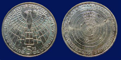 nicolaus berlin file germany 5 silver coin 1973 copernicus 500th