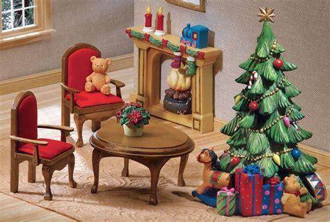 christmas doll houses mini christmas furniture for doll houses furniture room items