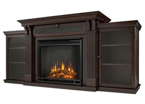 "67"" Ashley Dark Walnut Entertainment Center Electric Fireplace"
