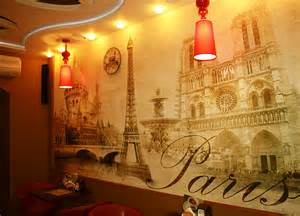 Wall Murals Posters Sticker Mural Paris Vintage Classic Gold Autumn Wallpaper