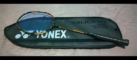 Raket Yonex Ti 10 Kw of badminton things badminton racket review yonex duora 10