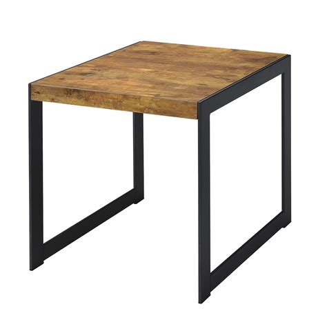coaster furniture end tables coaster 704027 end table antique nutmeg gunmetal 704027