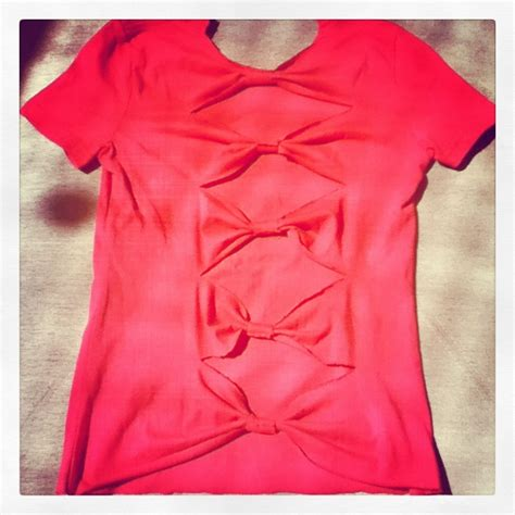 Handmade Clothing Ideas - diy bow shirt xime vestuarios