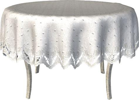 nappe blanche sur table ronde