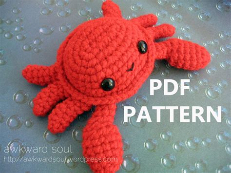 cute lobster pattern crab amigurumi crochet pattern pdf