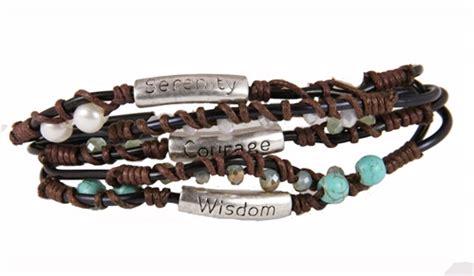 serenity prayer beaded bracelet 4030330 serenity prayer wrap cord beaded bracelet aa 12