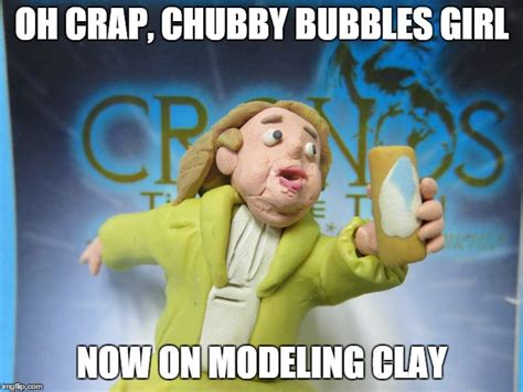 Chubby Bubbles Girl Meme - chubby bubbles girl modeling clay meme plastilina by