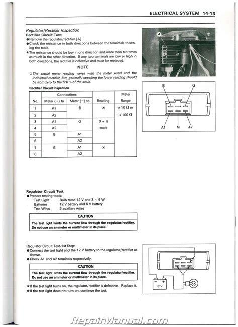 Kawasaki Mule 550 Manual by 1990 2004 Kawasaki Kaf300a Mule 500 520 550 Utv Service