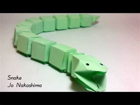 How To Make Paper Snake - origami snake jo nakashima
