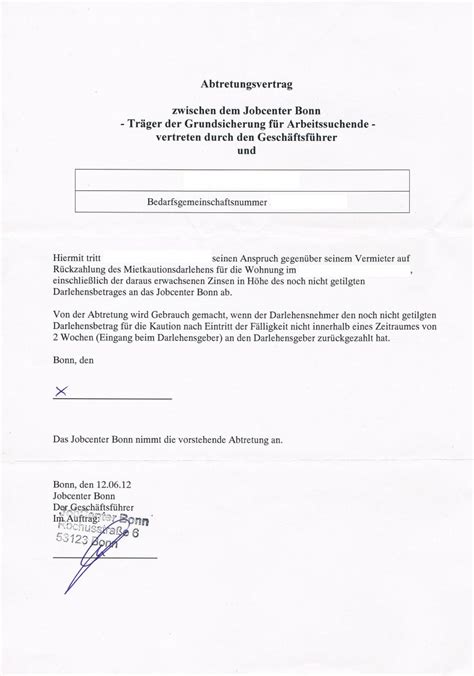 Schreiben An Jobcenter Muster Kaution F 252 R Wohnung Bezahlt Die Arge Erwerbslosen Forum Deutschland Elo Forum
