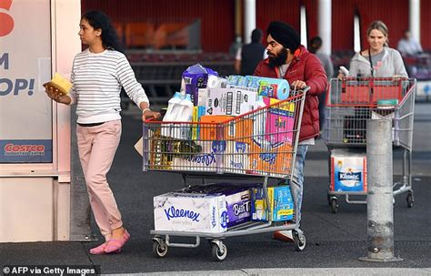 sydney supermarkets running   toilet paper  panic buyers stripped melbourne coles