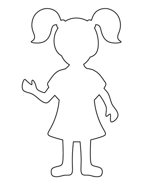 girl pattern use the printable outline for crafts