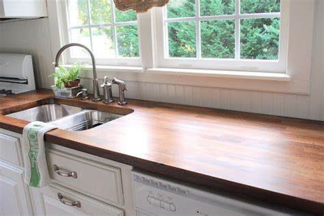 cheap butcher block countertops updating your kitchen counters on a budget stains diy