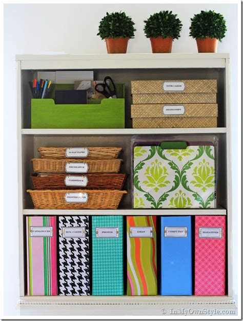Organizing Ideas: Colorful Magazine Files   Free Labels